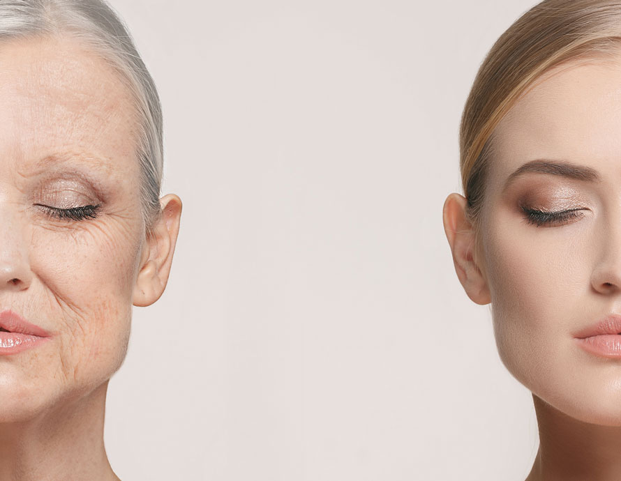 Comparison of Young and Older Skin | Aging Skin Dermatology Institute of America Dermatologist Formulated Skincare Products and Beauty Evaluations