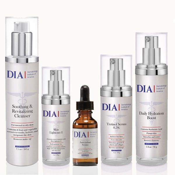 DIA's Female Skincare Regimen for Normal to Dry and Mature Skin from Dermatologist Institute of America Professional Skincare Products | Dermatologist Formulated Skincare Products