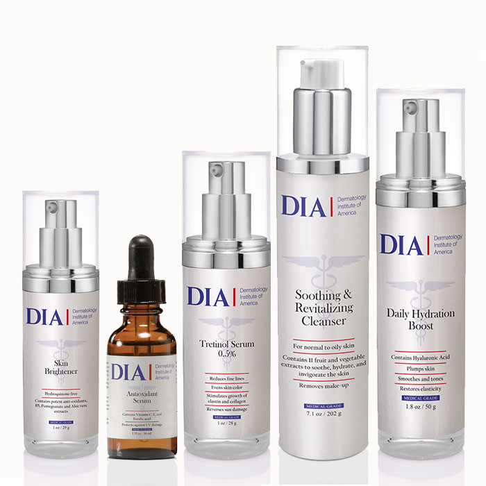 DIA's Female Skincare Regimen for Normal to Dry and Mature Skin from Dermatologist Institute of America Professional Skincare Products | Dermatologist Formulated Skincare Product