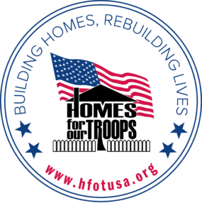 Homes for our Troops logo | Dermatology Institute of America donates a portion of all product sales to hfotusa.org