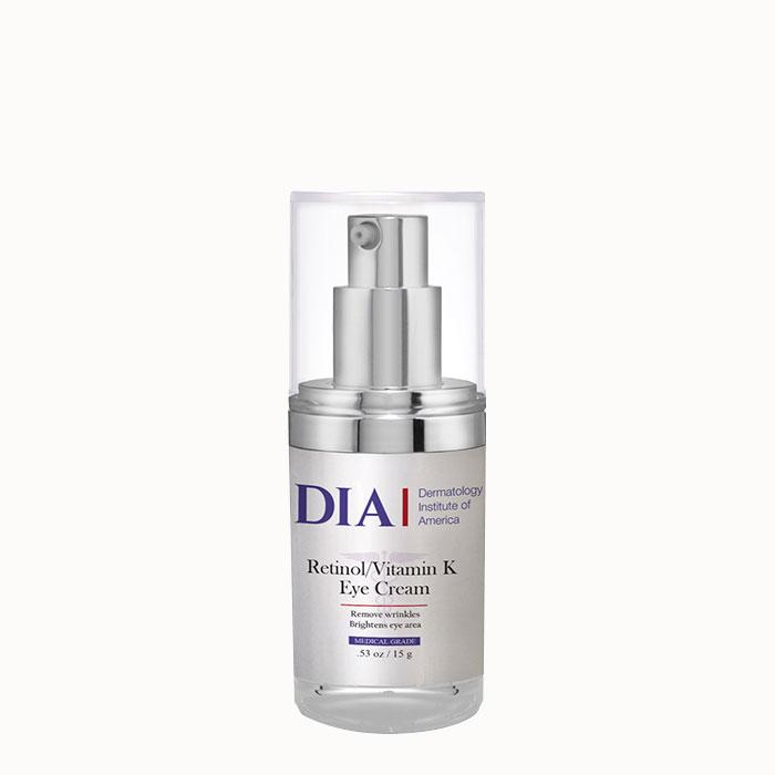 DIA Retinol Vitamin K Eye Cream from Dermatologist Institute of America Professional Skincare Products | Dermatologist Formulated Skincare Product