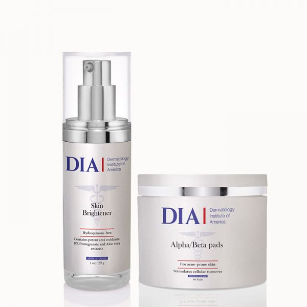 DIA's The Glow Regimen with Alpha Beta Pads and Skin Brightener Products from Dermatologist Institute of America Professional Skincare Products | Dermatologist Formulated Skincare Product