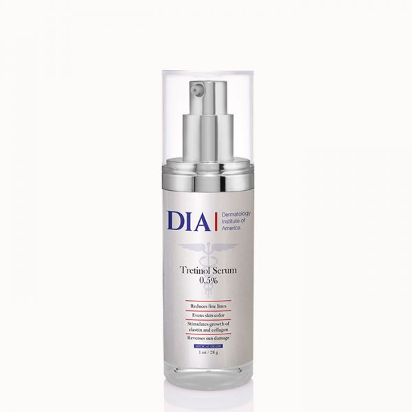 DIA Tretinol Serum 0.5% from Dermatologist Institute of America Professional Skincare Products | Dermatologist Formulated Skincare Product